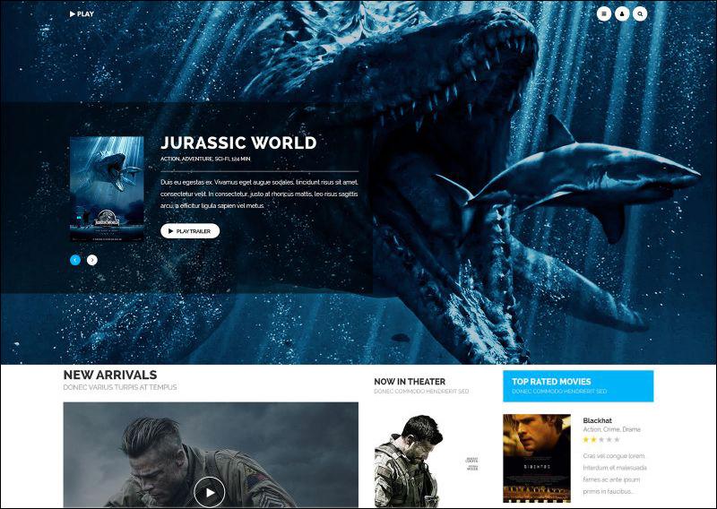 Movie Joomla Template With Mega Menu