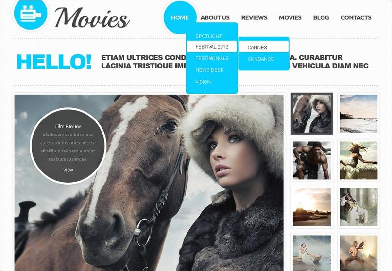 Movie Joomla Theme