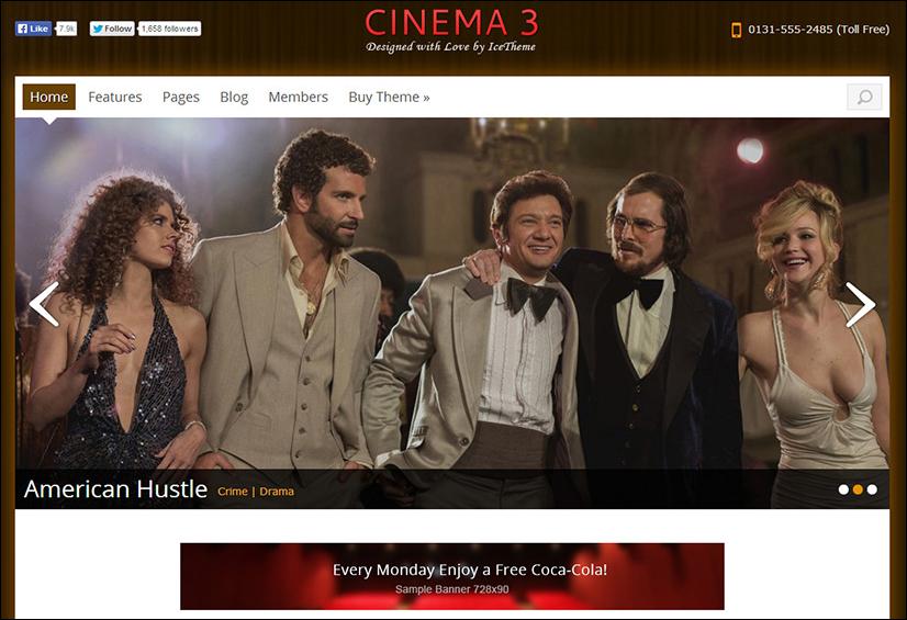 Movie Premium Joomla Theme