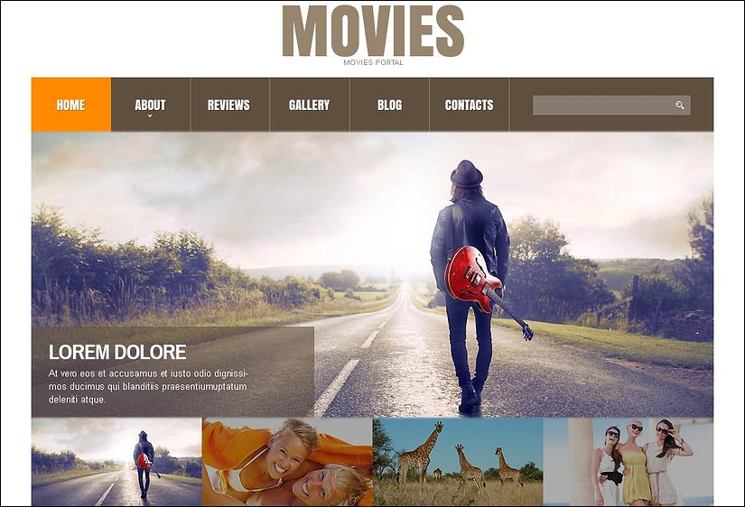Movie Responsive Joomla Theme