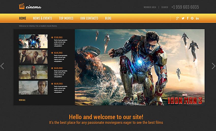 Movie Responsive Joomla Website Template