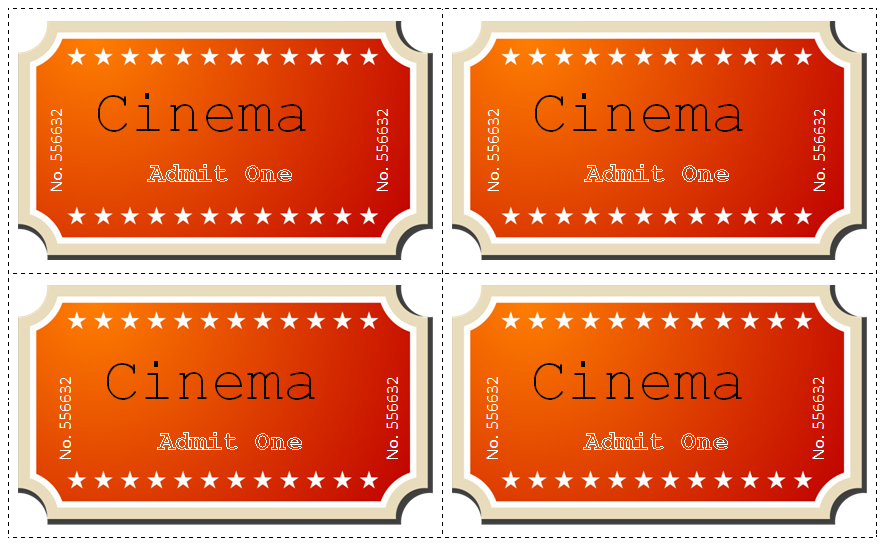 Movie Ticket Template Word