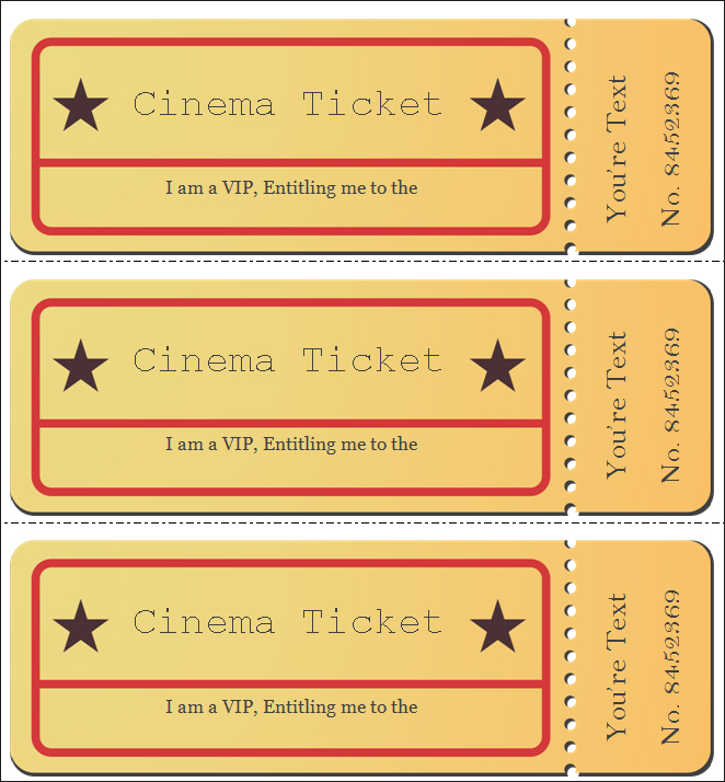 Movie Ticket VIP Template ...  Movie Ticket Templates For Word
