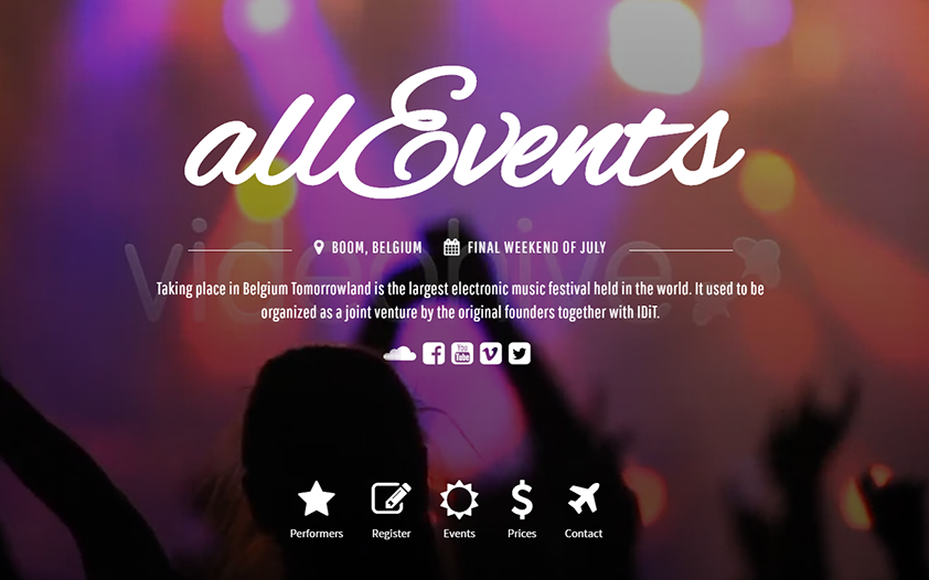 Multi Events Organizing HTML Template