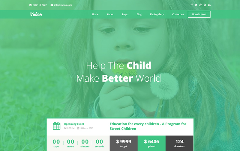 Multipage Charity HTML Template