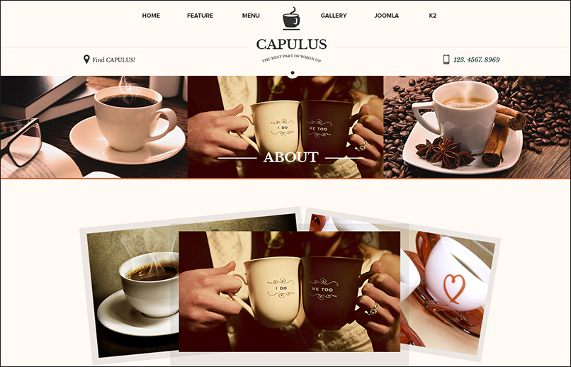 Multipurpose Coffee Parallax Joomla Template