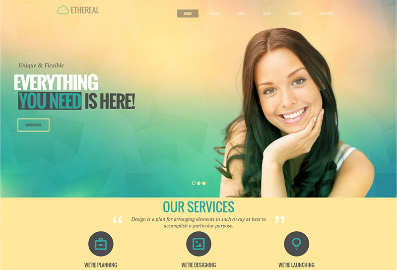 Multipurpose Parallax HTML Template