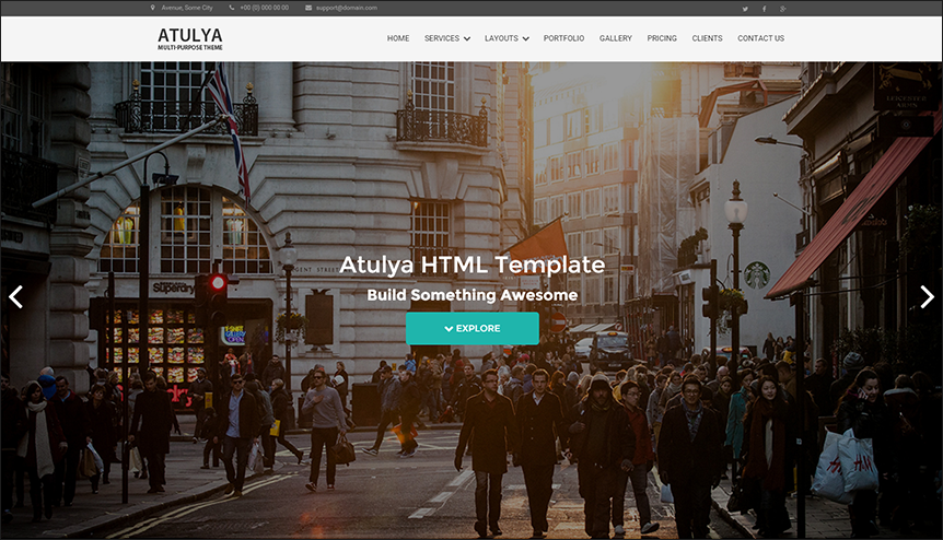 Multipurpose Parallax HTML Web Template