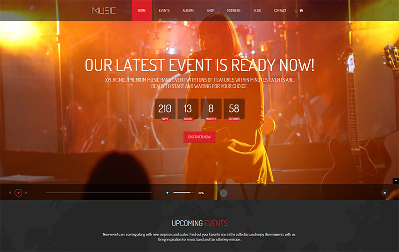 Music Band Event HTML Template