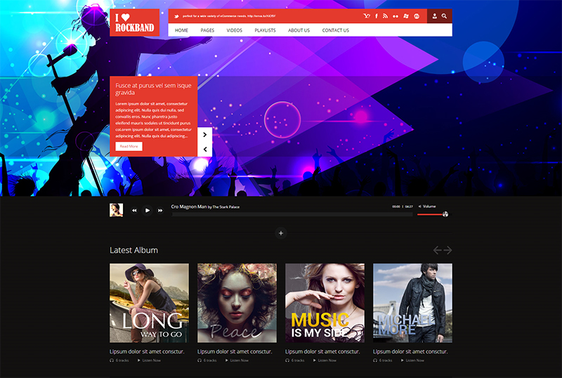 Music Band HTML Template
