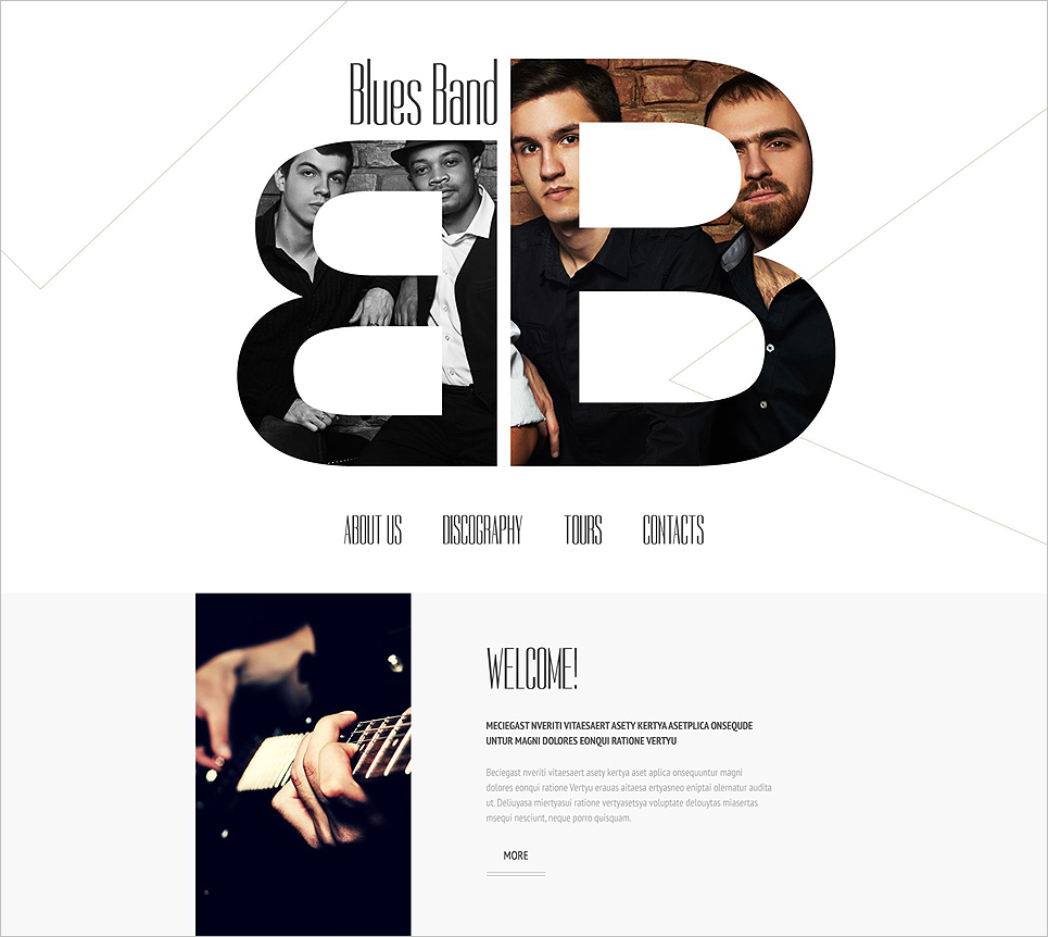 Music Band HTML5 Template