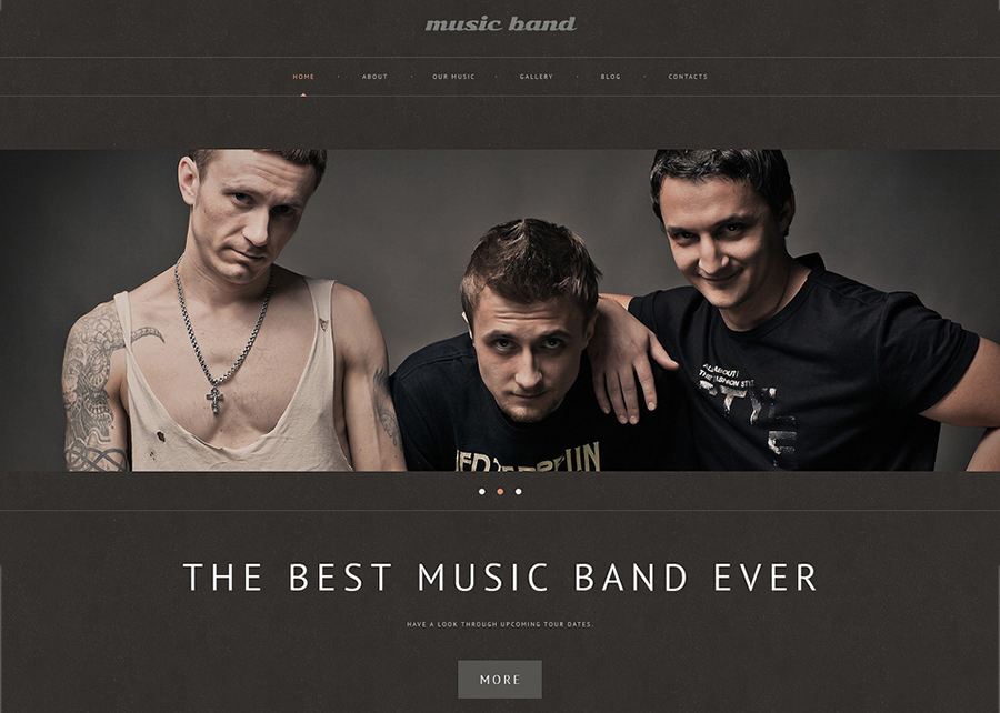 Music Band Responsive WordPress Template