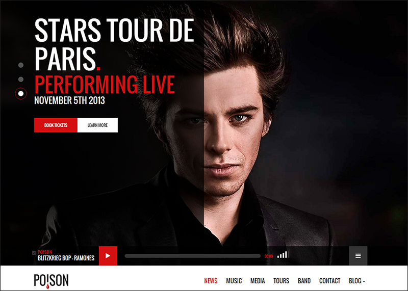 Music Bands Artist Club WordPress Theme