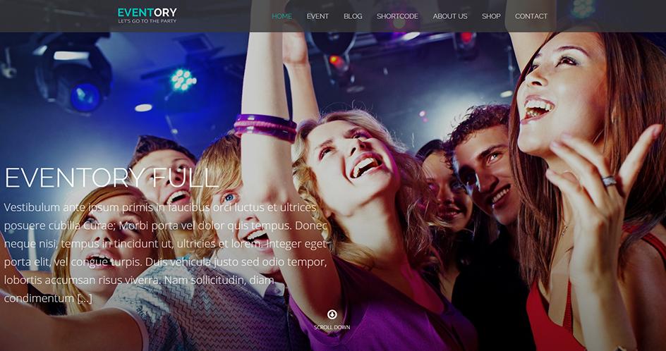Music Events WordPress Theme