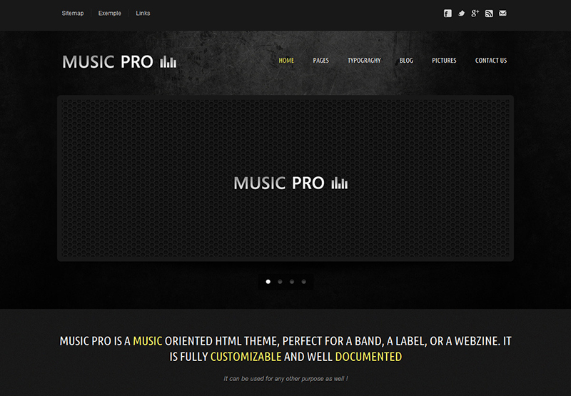 Music Oriented HTML Template