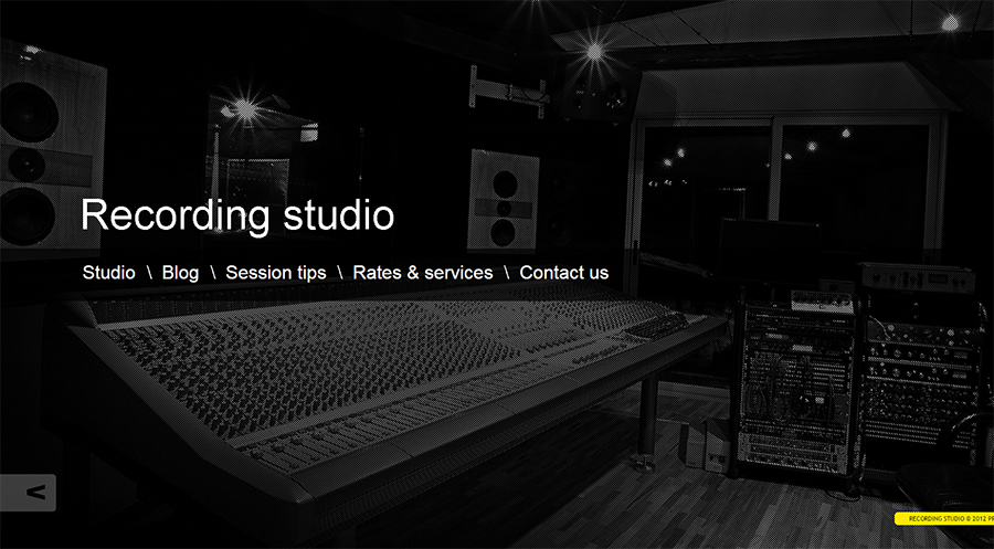 Music Recording Studio WordPress Theme