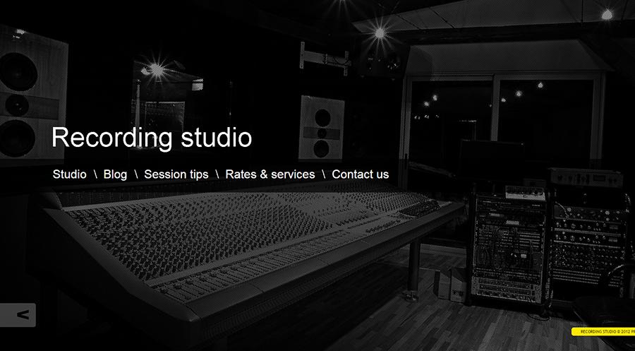 Music Recording Studio WordPress Theme