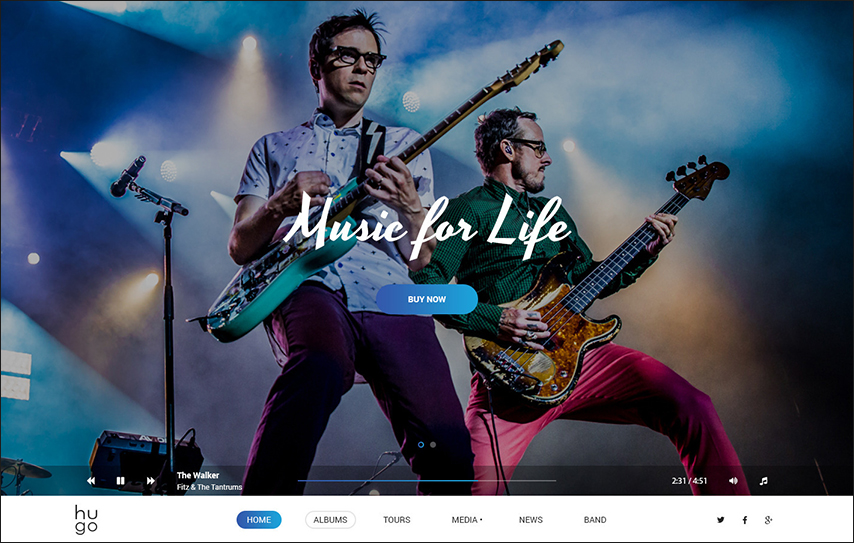 Music Singers & Bands WordPress Theme