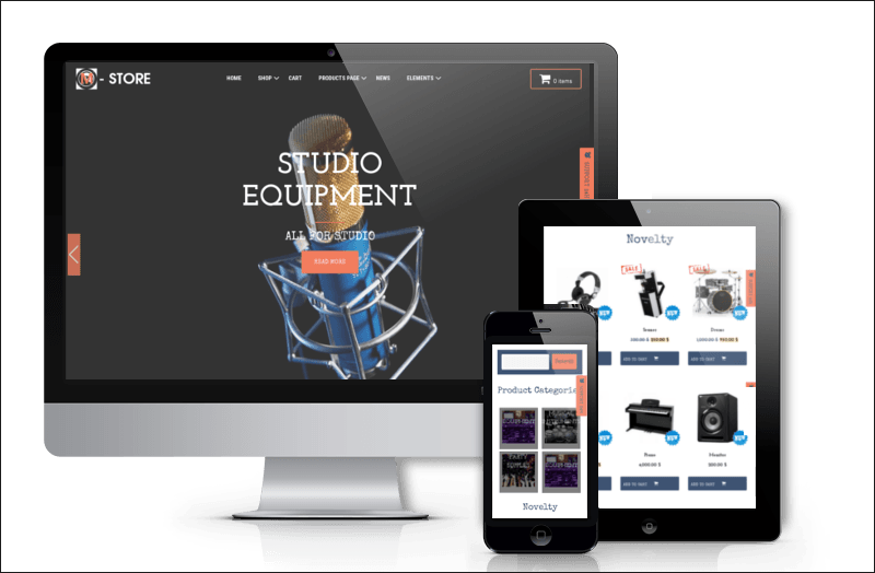Music Sotre WordPress Theme
