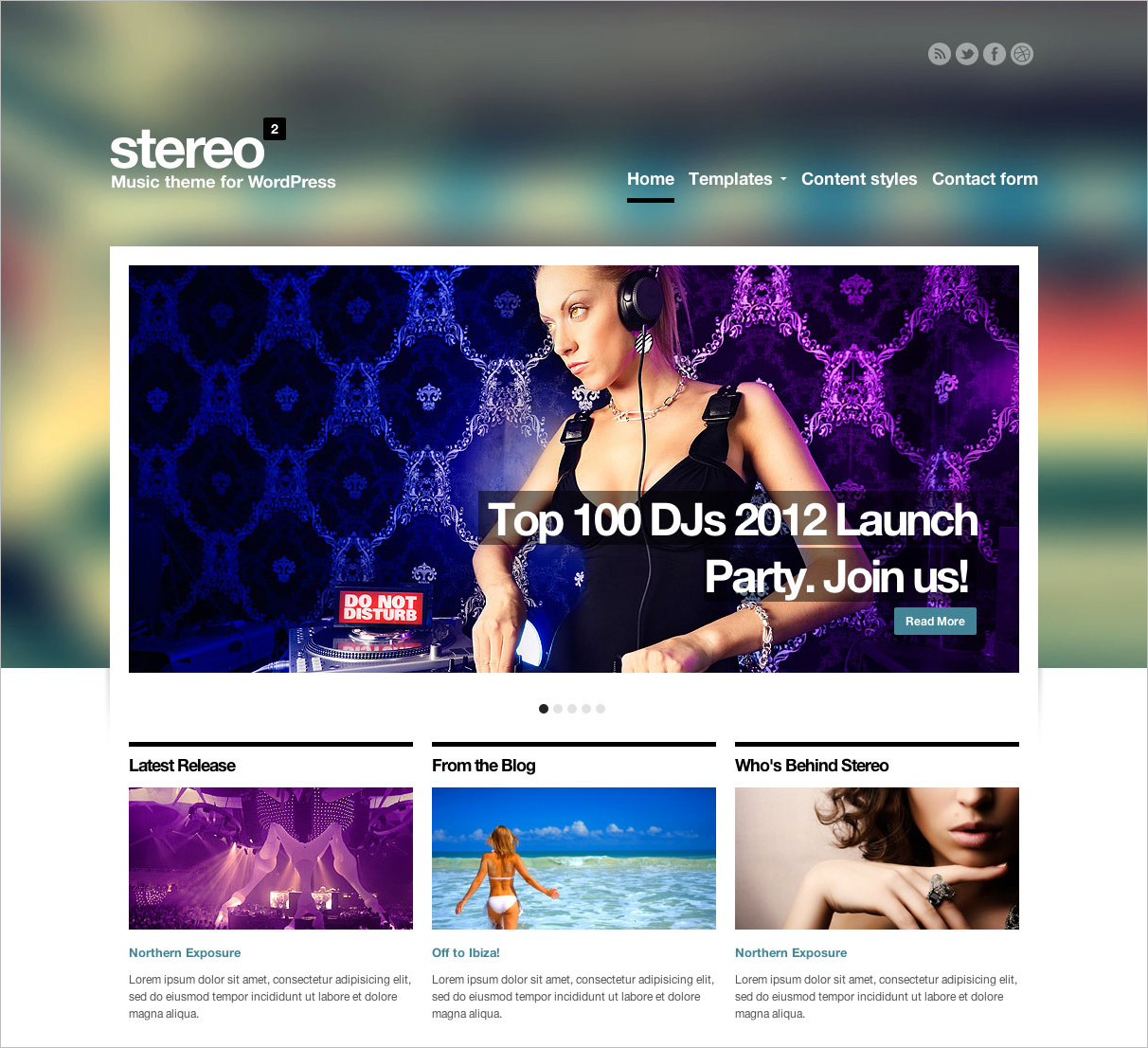Music Template HTML Download