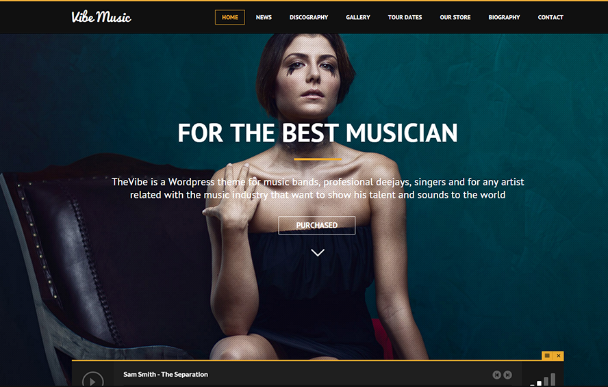 Musicians, Deejays & Bands WordPress Theme