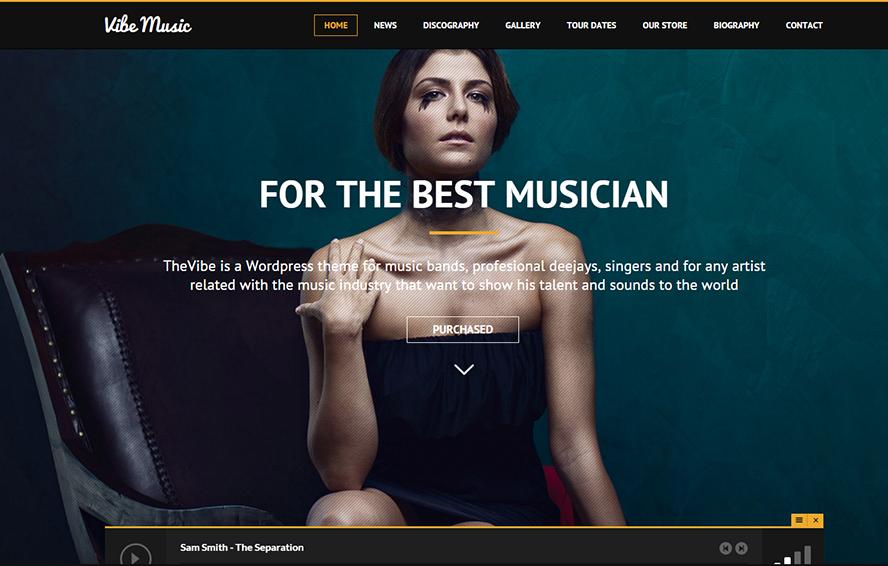 Musicians, Deejays & Bands WordPress Theme