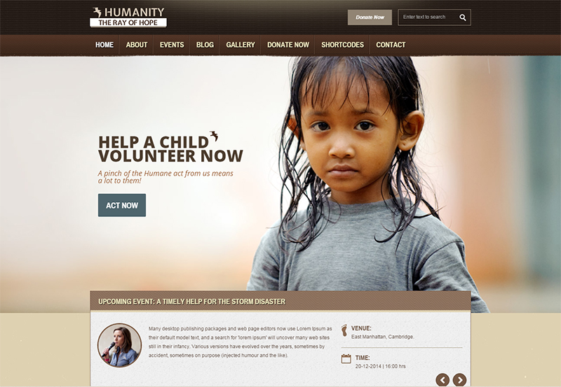 16+ Charity Html5/Css3 Website Templates