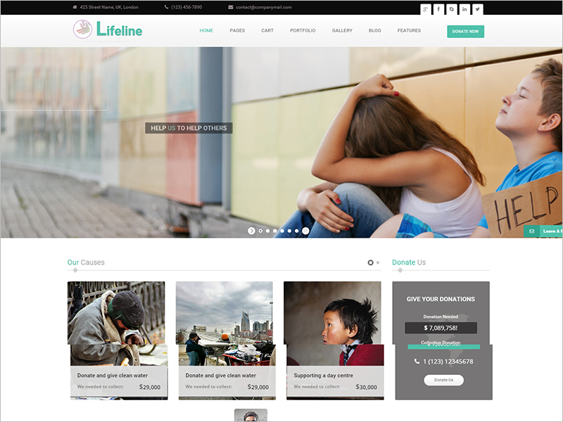 NGO and Charity Responsive HTML Template