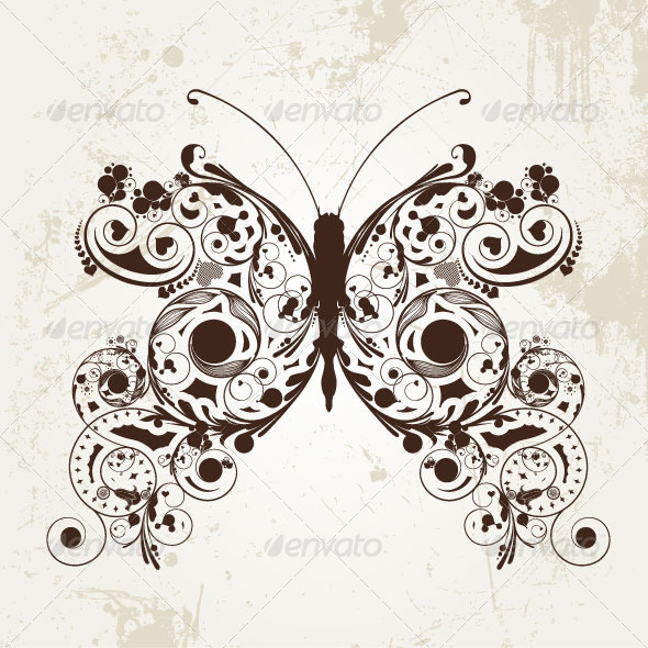 Nature Butterfly PSD