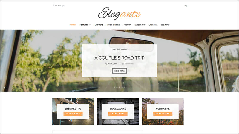 New Clean & Elegant WordPress Blog Theme