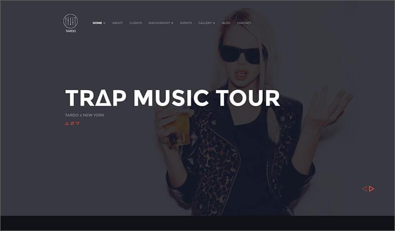 New DJ Producer Band Musician WordPress Theme