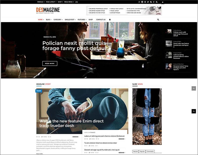 New WordPress Multiconcept Magazine Theme