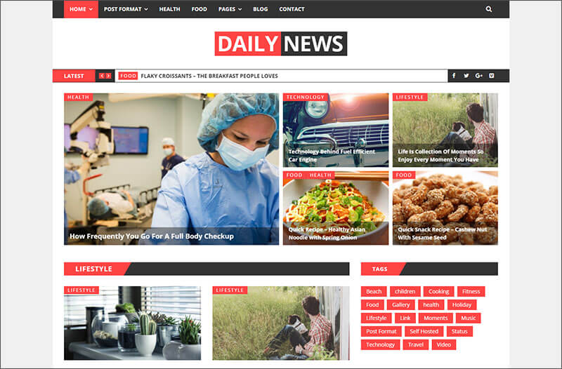 New WordPress News Magazine And Blog Theme