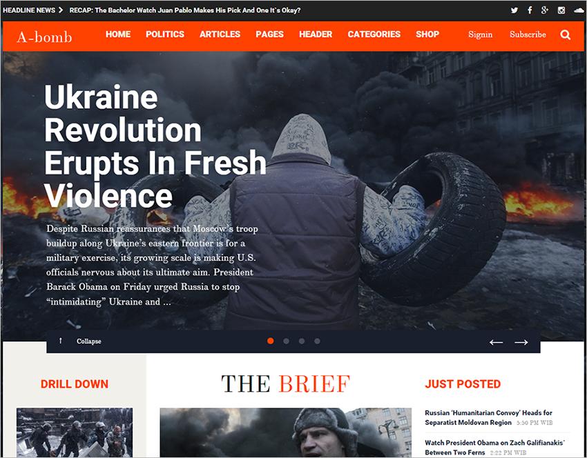 News & Blogging Theme