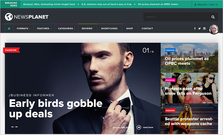 News & Blog WordPress Theme