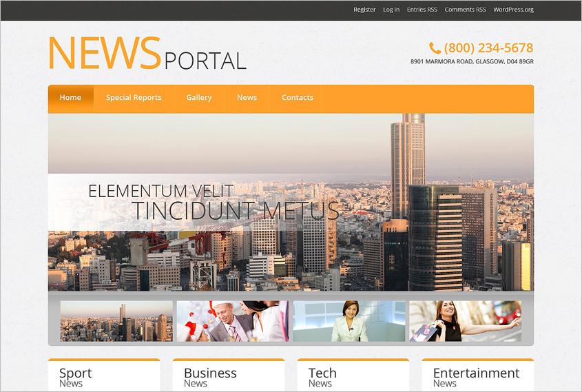 News Portal & Blog Responsive WordPress Theme