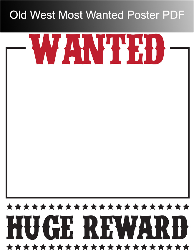 Old West Most Wanted Poster PDF