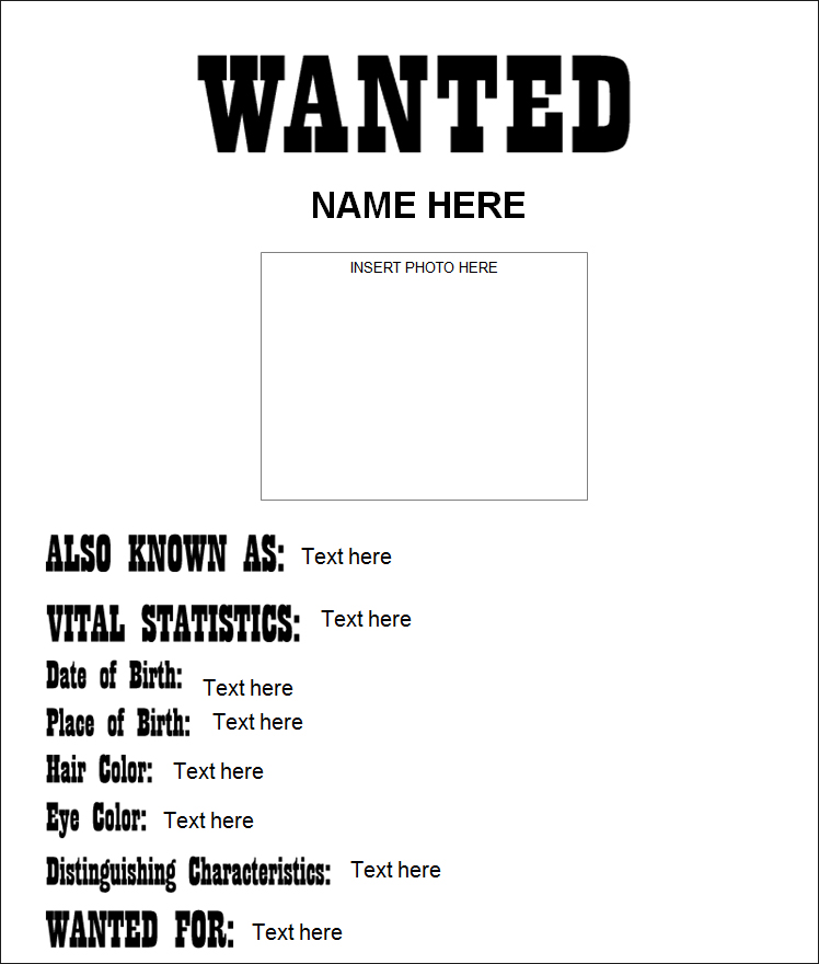 Old West Most Wanted Poster