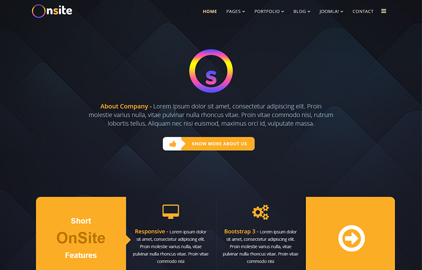 One Page Business Consulting Joomla Template