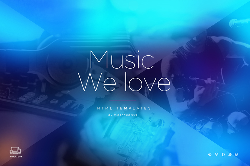 One Page HTML Music Template