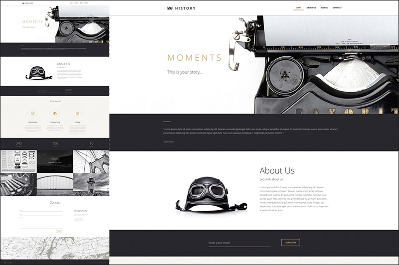 One Page HTML Template With Video Background