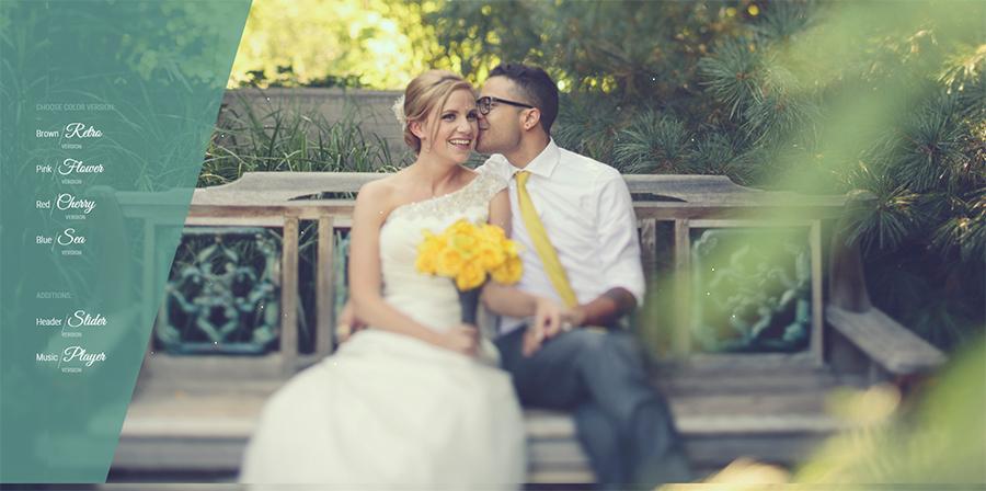 One Page Wedding WordPress Theme