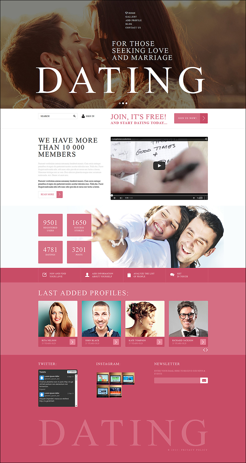 Online Dating Services Joomla Template