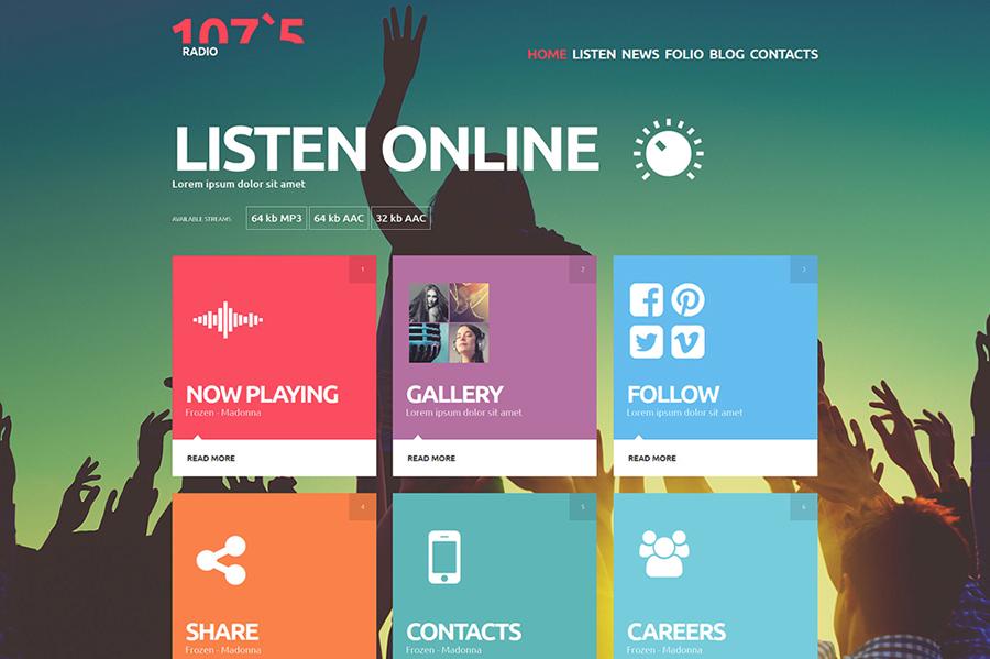 Online Radio Parallax Joomla Template
