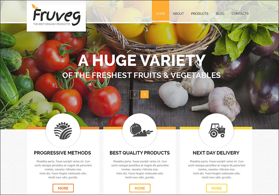 Organic Products Joomla Template