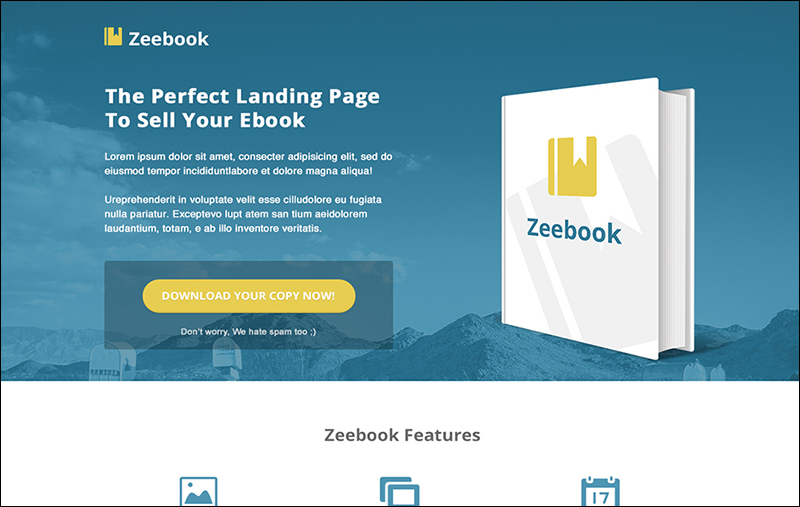 PSD Landing Page Website Template