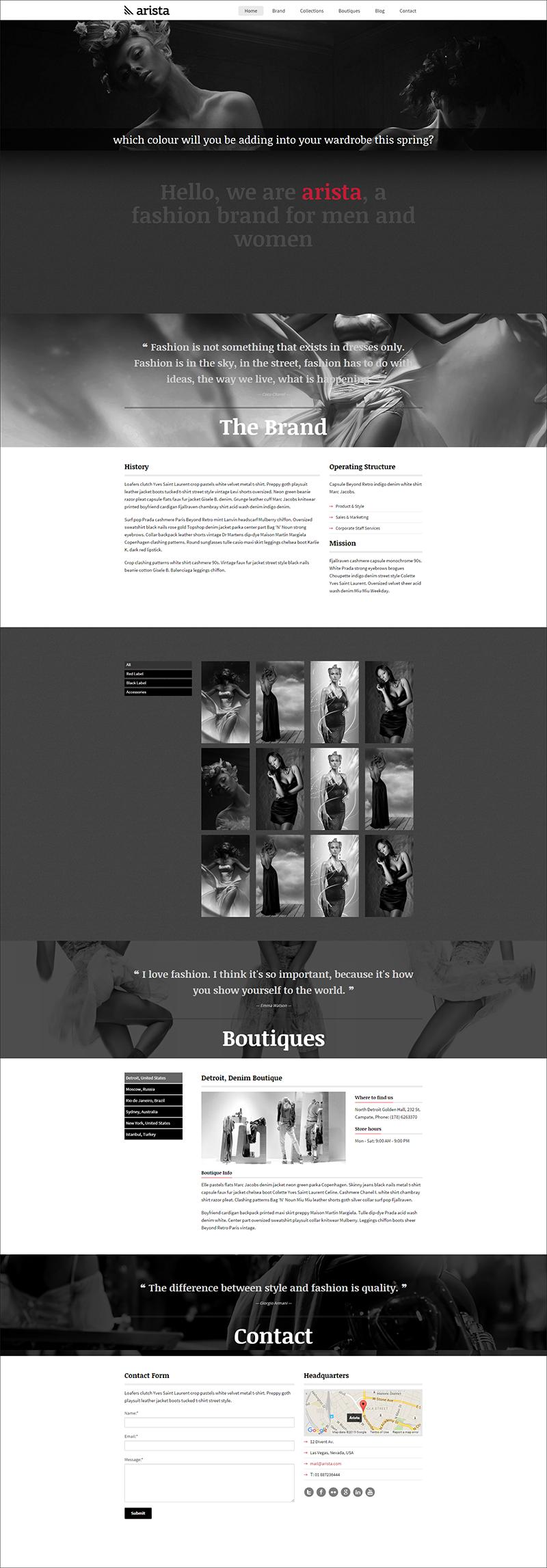 Parallax Fashion HTML Template