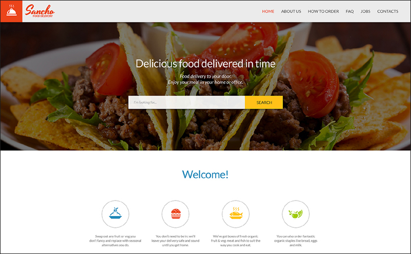 Parallax HTML Delivery Services Template