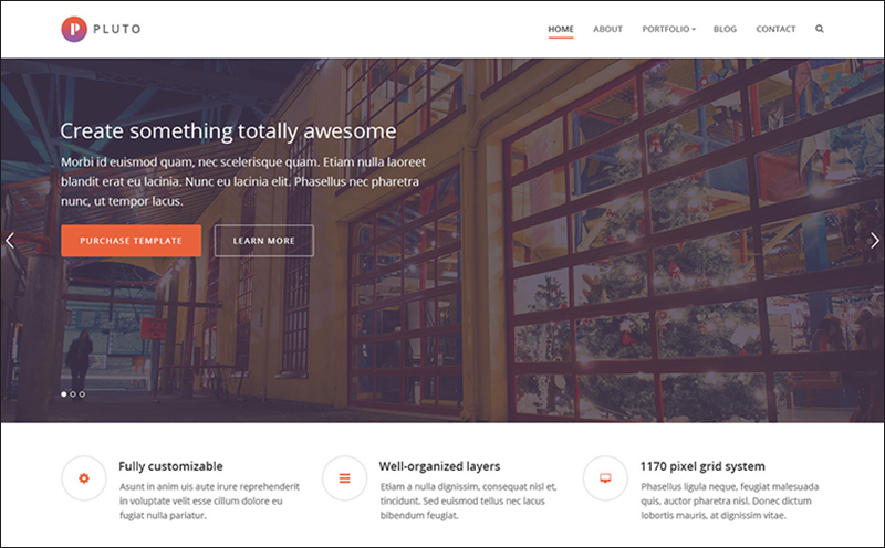 Parallax HTML Portfolio Template