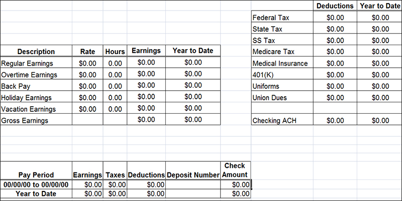Pay Stub Templates Free and Premium Templates – Payroll Stubs Templates